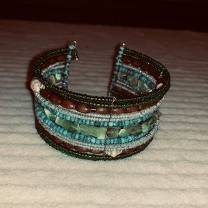Jewelry - 5/$25 cuff bracelet green turquoise brown